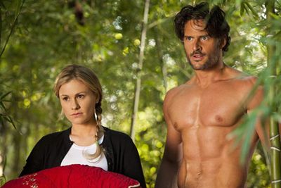 Needlessly shirtless Alcide (Joe Manganiello)! Oh, and Sookie (Anna Paquin).
