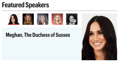Meghan is one of many female leaders speaking at the event.