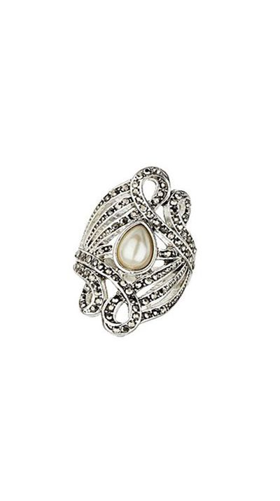 "<a href=""http://www.topshop.com/en/tsuk/product/bags-accessories-1702216/jewellery-469/pearl-ring-pack-4081758?bi=201&ps=200"">Ring, from Pearl Ring Pack, approx. $24, Topshop</a>"