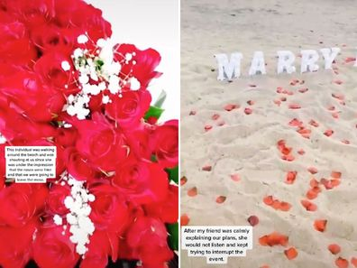 TikToker defends beach proposal after stranger almost 'ruined' it