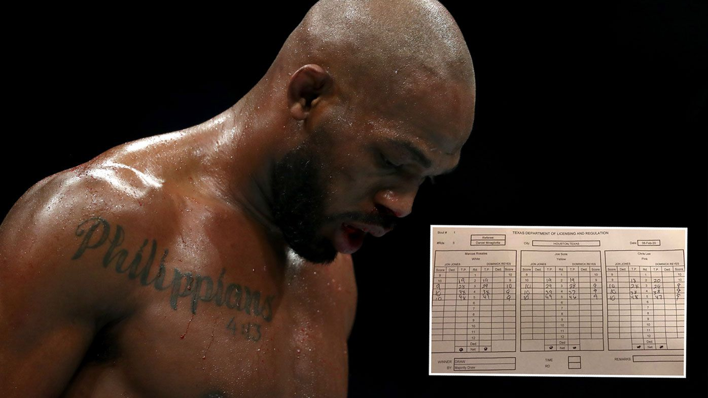 Jones Reyes scorecard causes further outrage