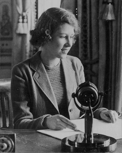 Princess Elizabeth made her first world broadcast on 13 October 1940, when she was fourteen.