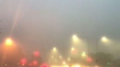 The fog is expected to cause further airport and traffic delays. (9NEWS)