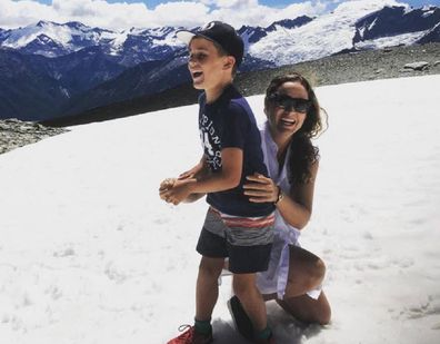 Cathrine and Louis at the snow