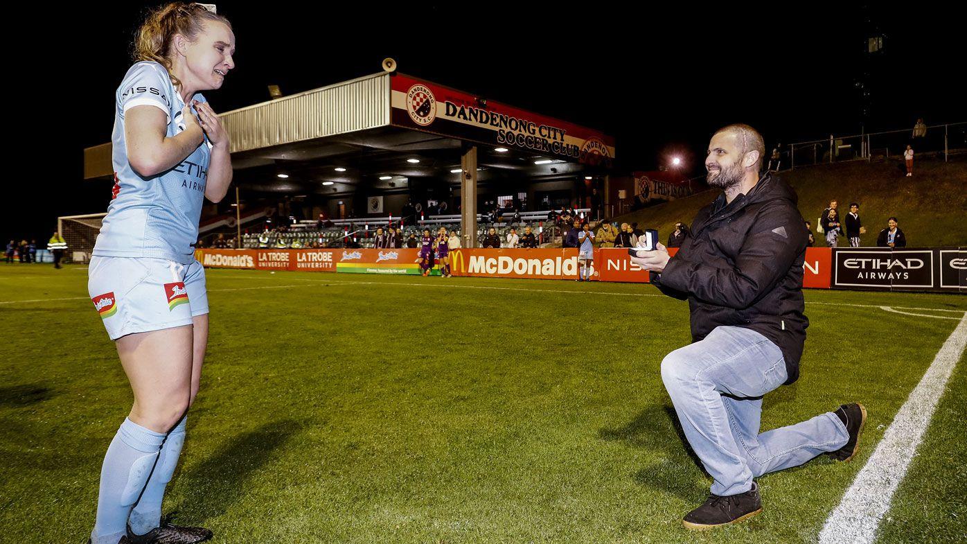 Touching moment follows W-League star Rhali Dobson's final game