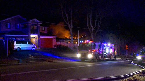 Six people were inside the home when the blaze started. Image: 9News