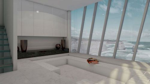 An artist impression of the Cliff House's views. (Supplied, Modscape)