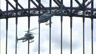Helicopters at the Harbour Bridge