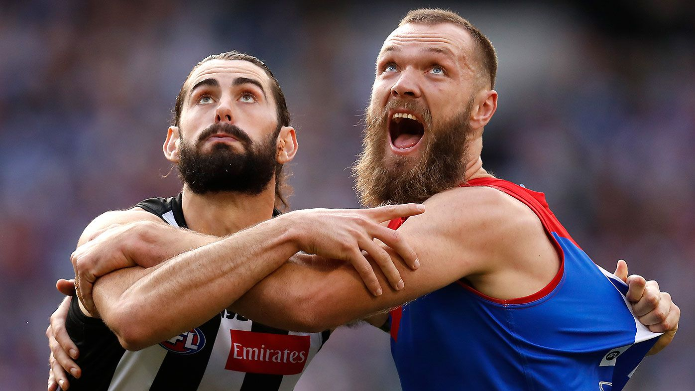 Brodie Grundy and Max Gawn