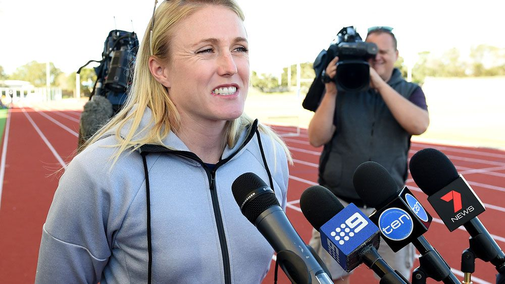 Sally Pearson returned to competition in Germany. (AAP)