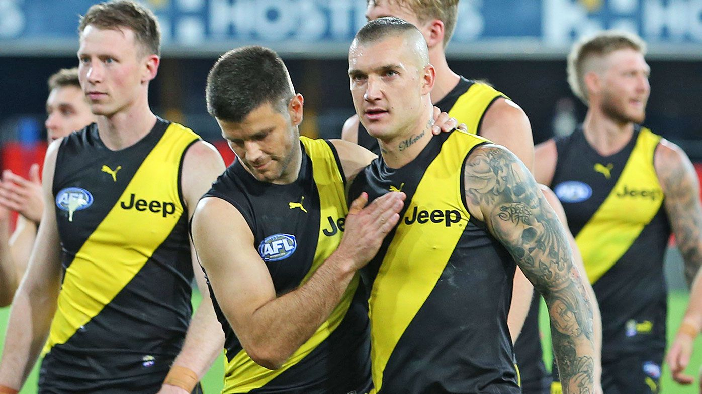 'This is genius': Richmond Tigers' bizarre nappy-changing punishment revealed