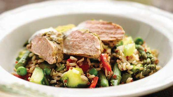 Pork fillet and quinoa salad