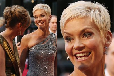 Jessica Rowe doing her best Jack Nicholson impersonation.<br/><br/>(Image: Getty)