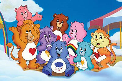 <B>Ran from:</B> 1984 to 1988<br/><br/><br/><B>Why it's awesome:</B> <i>Care Bears</i> taught kids lessons about friendship and kindness, without resorting to violence. Sickly sweet? Maybe. Irresistibly cute? Definitely. The series was followed by several theatrical films, including a Care Bears take on Alice in Wonderland.