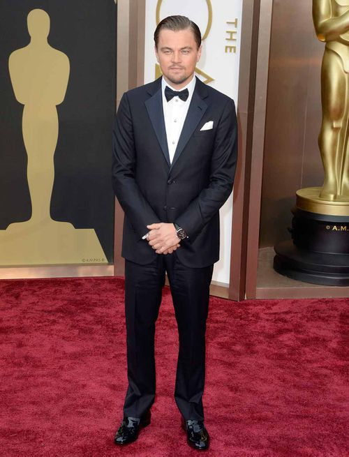 Leonardo DiCaprio at the Academy Awards in 2014. (Getty)