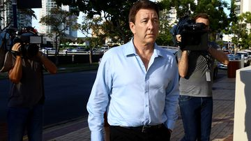 Dreamworld Head of Engineering Chris Deaves leaves the inquest into the Dreamworld disaster at Southport Court on the Gold Coast, yesterday.