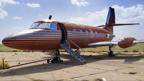 A private jet belonging to rock n' roll legend Elvis Presley is going up for auction. (AAP)