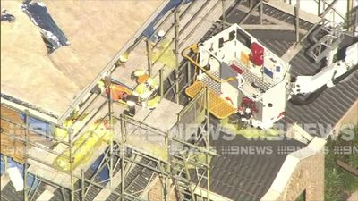 Construction worker falls from roof of building