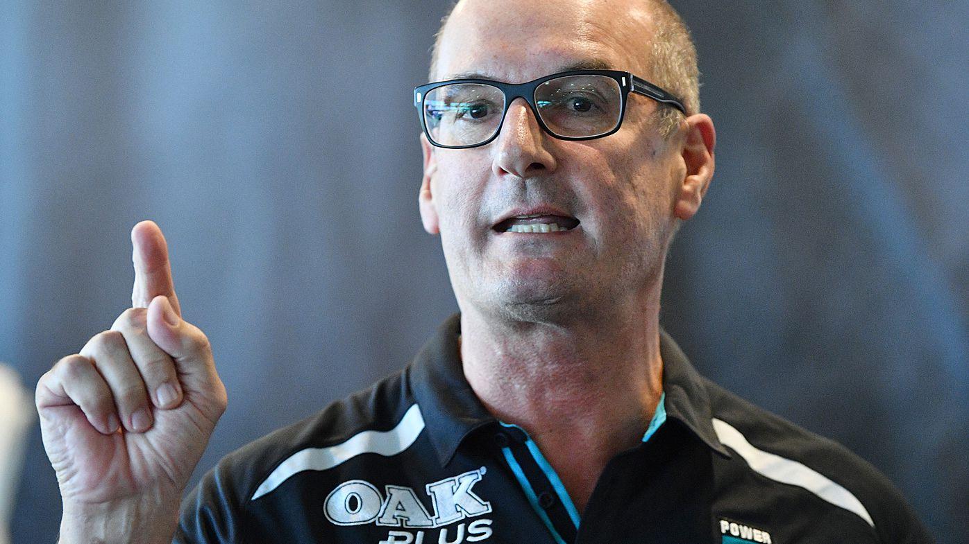 Port Adelaide Power president David Koch accuses AFL of 'railroading' Sam Powell-Pepper: report