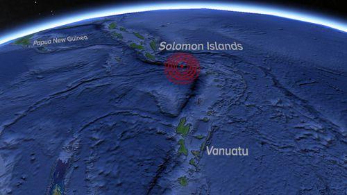Magnitude 6.9 earthquake strikes near Solomon Islands