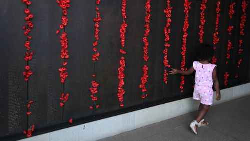 The Wall of Remembrance at the Australian War Memorial in Canberra. (AAP)