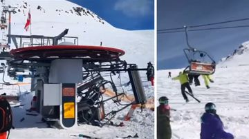 Skiers flung in lift malfunction