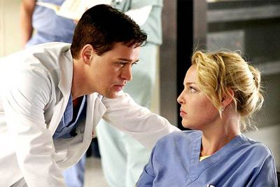 T.R. Knight and Katherine Heigl had great onscreen chemistry... as friends. As lovers, they induced vomiting. Their thankfully short-lived relationship was one of the least convincing storylines <em>Grey's</em> ever pulled. George was later killed off, guaranteeing they could never ever ever hook up again (at least without it being super-gross).