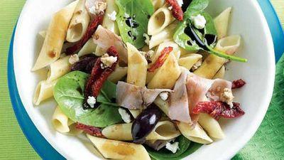 "<a href=""http://kitchen.nine.com.au/2016/05/13/11/02/warm-pasta-salad"" target=""_top"">Warm pasta salad</a> recipe"