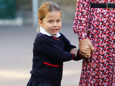 Princess Charlotte on her first day at school