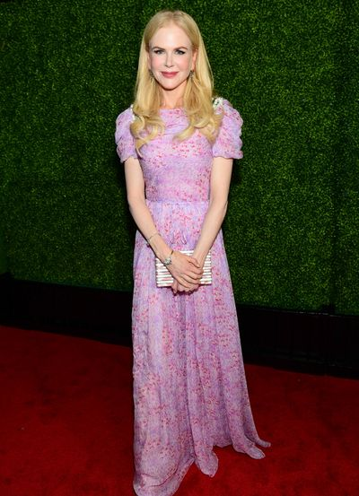 Nicole Kidman inCaroline Herrera at the 7th AACTA International Awards in Los Angeles.