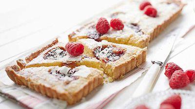 "Click through for our&nbsp;<a href=""http://kitchen.nine.com.au/2016/05/05/12/56/frangipane-and-raspberry-tart"" target=""_top"">Frangipane and raspberry tart</a>"