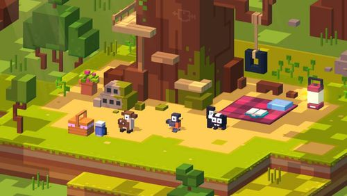 Crossy Road Castle video game screen shot