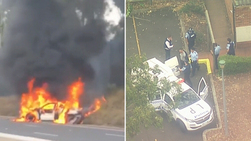 A large-scale police operation is underway in Sydney's south-west following home invasions, carjackings, and a high-speed crash.