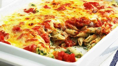 """Recipe: <a href=""""https://kitchen.nine.com.au/2016/05/05/11/04/spinach-and-ricotta-bake"""" target=""""_top"""">Spinach and ricotta bake</a>"""