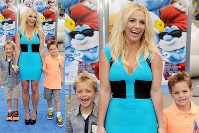 Britney Spears, Sean Federline and Jayden James.