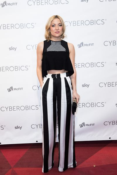 Kate Hudson attends the 'World of Cyberobics' presentation on April 14, 2016 in Berlin, Germany.