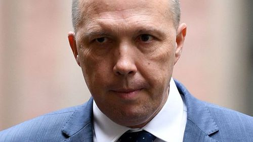 Peter Dutton has called for a postal plebiscite on same sex marriage. (AAP)