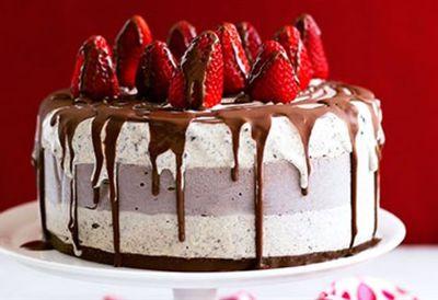 Chocolate ice-cream celebration cake