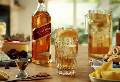 Whisky spritz welcome drink