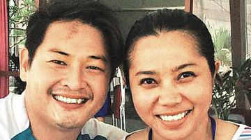 Bali Nine member Andrew Chan and Febyanti Herewila, who he wed on the eve of his execution. (Supplied)