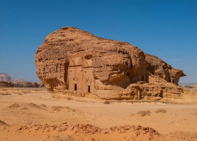Nabatean rock tombs of Mada'in Saleh Saudi Arabia