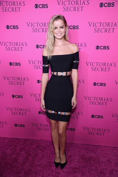Frida Aasen at the Victoria's Secret viewing party in New York.