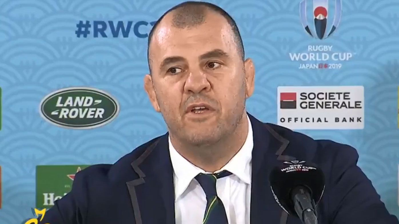 Cheika guarded on future after Cup defeat, bites back at reporter