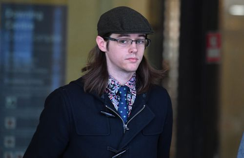 Nathan Wood leaves after giving evidence at the trial of Evie Amati. Picture: AAP