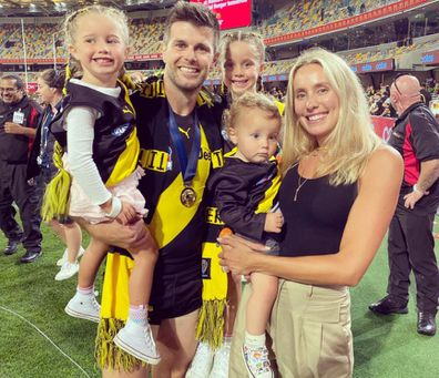 Brooke and Trent Cotchin AFL Richmond following a win