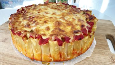 This is the honeycomb pasta cake hack recipe