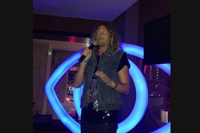 @xavbait: 'Tim Dormer during his acceptance speech at the #bbwrapparty #bbau #bbfinale.'