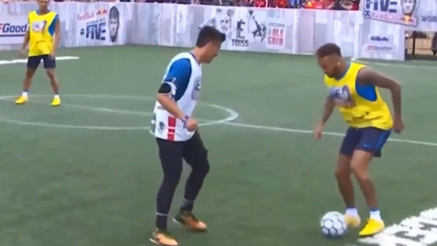 Neymar shoves boy during 5-a-side tournament