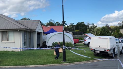Police allegedly found the firearms at the man's home in Crestmead. (9NEWS)