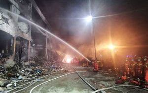 Chinese petrol tanker explosion kills at least 19 and collapses houses and workshops